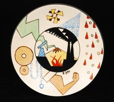 Birks for Clarice Cliff Clarice Cliff, My Plate, Ceramic Plates, Surface Design, Color Patterns, Pottery, Fancy, Ceramics, My Favorite Things