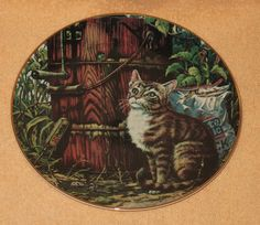 """Schmid Cat plate """" Friends of Mine """" mib by Catloversdream on Etsy"""