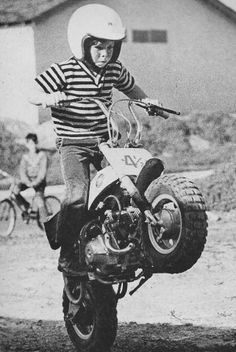 "Jeff Ward. Dad owned Mission Honda. this photo is similar to the shot,  of ""on any Sunday"" of which he was a part"