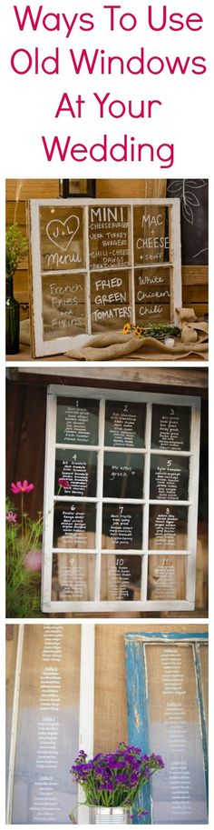 Ways To Use A Vintage Window At Your Wedding