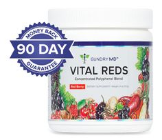 Gundry MD Vital Reds | This revolutionary formula is designed to address your skin problems at the source - your inner skin. I have combined 25 potent polyphenol-rich superfruits with a blend of powerful ingredients that helps promote better digestion, improved metabolism, and healthier, younger-looking skin.