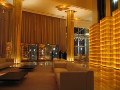 Hotel Astoria Lucern Switzerland Reception Lobby Lighting by