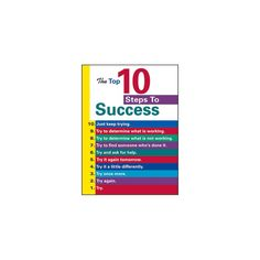 Poster The Top 10 Steps To Success $3.49