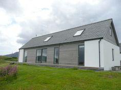 Beacon Light Bungalow House Design, Cottage Design, Modern Bungalow, House Cladding, Farmhouse Architecture, Bungalow Renovation, Rural House, Irish Cottage, Property Design