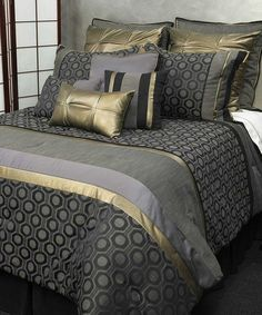 Take a look at this Black Meteor Comforter Set by Ma Maison on #zulily today!