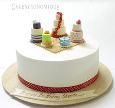 Whipped cream frosted cake for a Cake artist/Baker birthday#cakestronomique