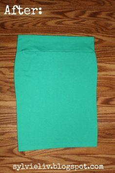 Tee Shirt to Pencil Skirt DIY Tutorial #Christmas #thanksgiving #Holiday #quote