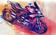 My main activity, my passion for transportation design. Motorcycle Design, Bicycle Design, Bike Sketch, Design Research, Transportation Design, Sketch Design, Scooters, Ducati, Vehicle