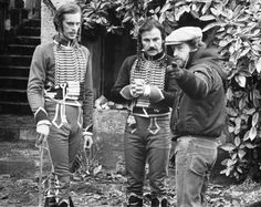 Ridley Scott, Keith Carradine and Harvey Keitel on the set of The Duellists