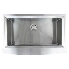 Transolid Studio Farmhouse/Apron-Front Stainless Steel 36 in. Single Bowl Kitchen Sink in Brushed Finish Refinish Kitchen Cabinets, Kitchen Cabinet Doors, Base Cabinets, Double Bowl Kitchen Sink, Farmhouse Sink Kitchen, Farmhouse Aprons, Sink Strainer, Stainless Steel Sinks, Undermount Sink