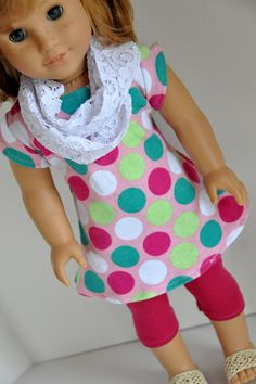 2adf8d34fd American Girl Doll Clothes Pink Polka Dot Knit by CircleCSewing