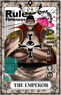 "☆ One Piece Tarot Card Art: The High Emperor :¦: By Artist ""Igarashi"" ☆ Zoro, Monkey D Luffy, One Piece Fanart, One Piece Anime, Barba Blanca One Piece, One Piece Wallpaper, The Emperor Tarot, Manga Anime, Otaku"
