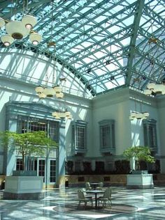 The Winter Garden room 9top floor) at the Harold Washington Library: City garden contest ceremony was here one year, great space!