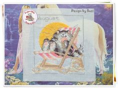 Project 2014: 24/40 August (Margaret Sherry-Calendar Cats)