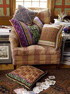 Marrakesh Market Pillows pattern by Kristin Nicholas