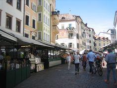 El mercado de Bolzano, Italia