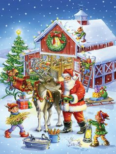 Ready Reindeer Jigsaw Puzzle, Christmas - Santa: Vermont Christmas Company