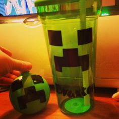 Minecraft cup and ornament