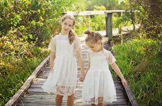 Blumenmädchen Kleid aus Spitze