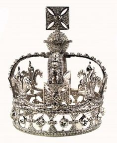 Queen Victoria's Diamond Crown. This very light but ornate crown was used by Queen Victoria for special occasions. She found the other royal crowns too heavy. She found that she could easily wear this crown even over her widow's veil, which she wore after Albert's death for the rest of her life. She first wore the crown in 1871 and on all state occasions thereafter. It sat on her coffin before her burial and she left it to the British Crown after her death.