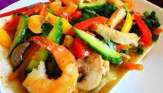 Surinaams eten – Chop Soy Speciaal ((lekker, gezond en slank kip-, garnaal- en groente gerecht)