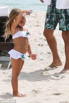Penelope Disick wearing Stella Cove Butterfly Ruffle Two-Piece Swimsuit