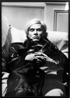 Andy Warhol photographed by Helmut Newton in Paris, 1977.