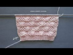 Como Tejer Flores-How To Knit Flowers 2 - Diy Crafts Baby Knitting Patterns, Knitting Stitches, Knitting Designs, Baby Patterns, Free Knitting, Stitch Patterns, Crochet Patterns, Tunisian Crochet, Knit Crochet