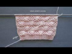dalgalı üçgenler örgü modeli bebek yelekleri ve bayan yelekleri örneği - YouTube
