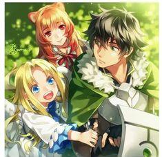 Filo, Raphtalia & Naofumi Iwatani (The Rising Of The Shield Hero) Anime Zone, Fanart Manga, Fan Art Anime, Anime Lindo, Ecchi, Light Novel, Anime Demon, Anime Shows, Animes Wallpapers