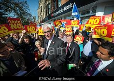 Glasgow, Scotland, UK. 10th Sep, 2014. #BetterTogether pro-Union campaign leader #AlistairDarling, joined by Labour Party veteran #JohnPrescott, whilst campaigning for a No vote in the forthcoming referendum on #Scottishindependence in #Glasgow © Sam Kovak/Alamy Live News