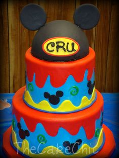 Mickey mouse cake @Christina Moore