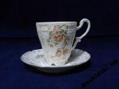 Porcelain cup and saucer set by C.T. Carl Tielsch, Altwasser (Stary Zdrój)1875-1909