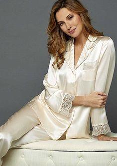 Silk Lingerie - Luxury Silk Underwear & Sleepwear for Women Satin Pyjama Set, Satin Pajamas, Pajama Set, Pajamas For Teens, Pajamas Women, Lingerie Vintage, Silk Underwear, Womens Pyjama Sets, Womens Pjs