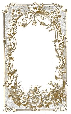 Vintage Gold Frame ~ the graphics fairy
