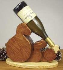 Bear Wine Bottle Holder Plan