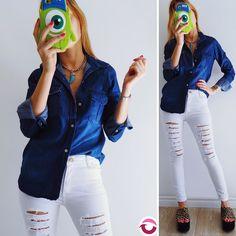 NEWWW CAMISA JEAN $550 Talle S y M amplia  JEAN COOPER $650 Ingresa la semana próxima tiro alto elastizado blanco roto= Local Belgrano Envios Efectivo y tarjetas Tienda Online http://www.oyuelito.com.ar #followme #oyuelitostore #stylish #styles #fashion #model #fashionista #fashionpost #ootd #moda #clothing #instafashion #trendy #chic #girl #trends #outfitoftheday #selfie #showroom #loveit #look #lookbook #inspirationoftheday #modafemenina #jeans