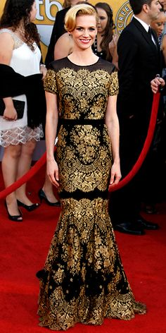 January Jones at the SAG awards. Top 10 of all time list for me