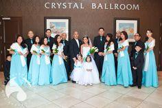 Bride & groom pose with their entire wedding party at the Crystal Ballroom. www.CrystalBallroomNJ.com Photo courtesy of Jesse Hernandez Photography. #bride #groom #CrystalBallroomNJ #CrystalBallroom #Freehold #RadissonFreehold #wedding #marriage #reception #nj #topnjweddingvenue