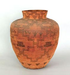 Massive Apache coiled   basketry olla