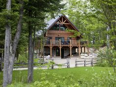 Log Home style: This rustic, mountain home can be made of a variety of reclaimed materials, including chestnut logs, ponderosa pine, or oak. :)