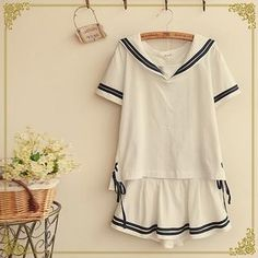 Buy 'Fairyland – Set: Sailor Style Short-Sleeve Top Miniskirt' with Free International Shipping at YesStyle.com. Browse and shop for thousands of Asian fashion items from China and more!
