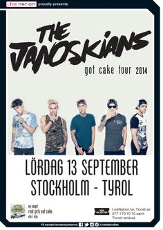 THE JANOSKIANS | 13 september | Stockholm, Tyrol |