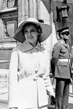 Margaret Trudeau, the wife of the former Canadian Prime Minister Pierre Trudeau, wore a stylish hat at Westminster Abbey in London in 1973 to attend a Commonwealth Day service. (Photo: Associated Press)