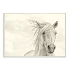 Feel the wind whisper while gazing at this majestic horse on a lithograph print wall plaque on durable MDF wood with sturdy, clear corners. The ready-to-hang piece features hand-finished foil sides fo