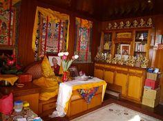 De kamer van Khen Rinpoche in Kopan monastry Kathmandu, Nepal. Foto: Nelly Leleulya