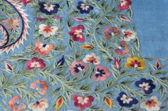 19th C Persian shawl, extensively embroidered in s