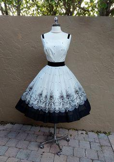 cute little black and white sun dress