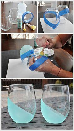 Интереснейший и простой в исполнении дизайн стаканов, вазы и т.п