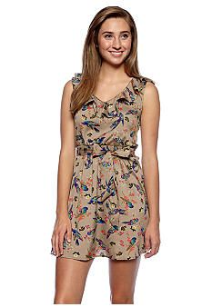Fire Bird Printed Dress #belk #juniors #critters